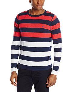 Nautica Men's Stripe Crew Neck Sweater, Dress Blues, Medium Nautica http://www.amazon.com/dp/B00PZA7U1C/ref=cm_sw_r_pi_dp_2I36vb1J90666