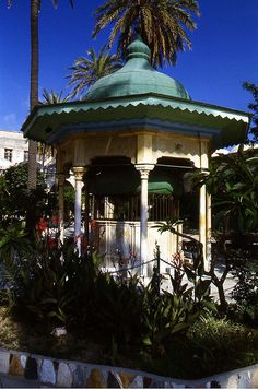A gazebo on the grounds of the Al-Jazzar mosque in Acco, ISRAEL.