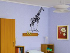 Giraffe Sticker Wall Vinyl African Animal Mural Nursery Decoration Gift  #073 #HomeOfStickers