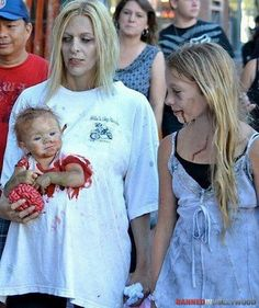Baby zombie..I was really considering having makayla be a zombie this halloween but seeing this I am a little freaked.