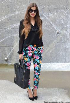 flower print pants