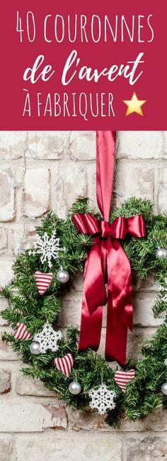 40 DIY de couronnes de l'avent ! Christmas Advent Wreath, Christmas Words, Christmas Is Coming, Christmas Carol, Christmas 2017, Winter Christmas, Christmas Wonderland, Christmas Centerpieces, Decoration Noel