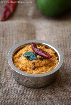 Mamidikaya Pesara Pachadi Recipe - Raw Mango Moong Dal Chutney - Gluten Free, Vegan