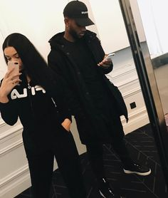 Bryson Tiller and his baby mother; Markea Bivens in Paris