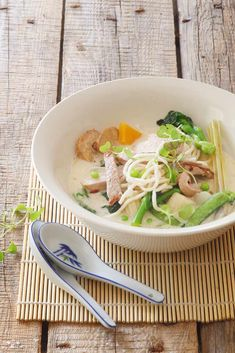 Beef and Vegetables in a Lemongrass, Ginger and Coconut Broth   crush Magazine Online via @crushonlinemag