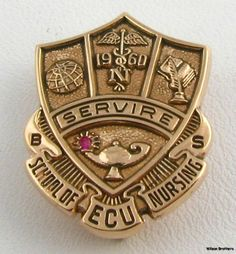ECU School of Nursing Genuine Ruby Pin - 10k Gold Bage East Carolina University picclick.com This will be mine in May hopefully.