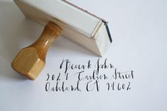 a custom rubber stamp with your return address in diva's signature calligraphy...who wouldn't want one?