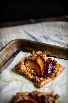 Adventures in Cooking: Pluot Puff Pastries With A Cinnamon Shortbread Crumb Topping & A Walkers Shortbread Giveaway!