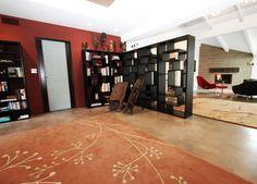 bookshelf room divider. I'm thinking guest room/office???