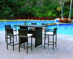 Wonderful High Top Table For The Poolside