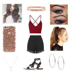 """""""Elena at Blizz"""" by annie-stylesx ❤ liked on Polyvore featuring Plukka, Topshop, Motel, ASOS and Michael Kors"""