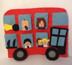 A personal favourite from my Etsy shop https://www.etsy.com/uk/listing/265058338/wheels-on-the-bus-hand-puppet-set