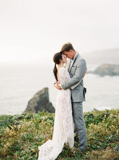 Textured Modern Wedding Inspiration in lace Emily Riggs gown. #erichmcveyworkshop