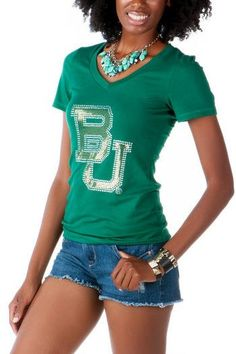 #Baylor Embellished Tee ($28 at francescas.com) #SicEm