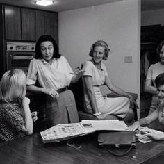 Mercury wives meet the Gemini wives - Marge needs a cig … and Jo Schirra…