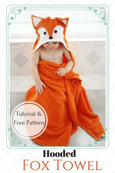 When my son started growing out of his store bought hooded towels I decided to try my hand at making him some versions with regular sized towels and I was really happy with how they turned out. Now that my daughter is getting older, it's time to start making some for her. Today I'm going to show you how to make both a bunny & fox hooded towel--perfect for Easter and also for gift giving! This free hooded towels tutorial includes both full step-by-step instructions, as well as the pat