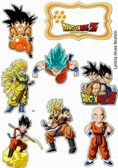 Dragon Ball Z: Free Printable Cake and Cupcake Toppers. - Oh My Fiesta! for Geeks Goku Birthday, Dragon Birthday, Dragonball Z Cake, Chibi, Kai Lan, Anniversaire Harry Potter, Ball Birthday Parties, Dragon Ball Gt, Superhero Party