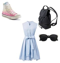 """""""School #1"""" by projectalice5 on Polyvore featuring Chicwish and Converse"""