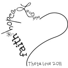 I love this idea for my wrist but with Samantha & Sophia's names along with faith, hope & love in the shape of a heart.