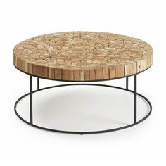 Features: Material: Wood and metal Teak mosaics Maintenance: Clean with a dry cloth Stackable: No Product Type: Coffee Table Pieces Included: Stools Mosaic Coffee Table, Coffe Table, Coffee Table With Storage, E Piano, Coffee And End Tables, Coffee Table Wayfair, Interior Design, Exposed Wood, Chairs