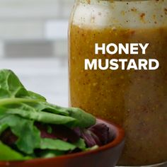 INGREDIENTS ½ cup stone ground mustard ½ cup honey Salt, to taste Fresh-ground black pepper, to taste 1 cup extra-virgin olive oil ½ cup apple cider vinegar Just shake and pour! Honey Mustard Salad Dressing, Lime Salad Dressing, Salad Dressing Recipes, Salad In A Jar, Soup And Salad, Catalina Salad Dressing, Comfort Food, Salad Ingredients, Summer Salads