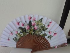 11 Hand Held Fan, Hand Fans, Chinese Fans, Vintage Fans, One Stroke Painting, Fabric Painting, Diy Crafts, Fancy, Pink