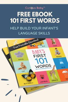 Language development is a critical step in an infant's cognitive development and it is widely impacted by their environment.That's why we're giving you our free PDF download version of 101 First Words. Yes, really FREE. That's because we can all use a little help to make life with babies easier. So here you go!#babytips #infanttips #babylanguageskills #infantbooks #babybook #babydevelopment #momtips #guideformom #infantlanguagebook