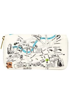 Love this clutch with a map of London.