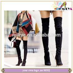 best authentic dd353 6a5e7 Recién sexy sobre botas hasta la rodilla para Mujer Calzado de tacón alto  botas de punta