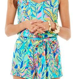 Lilly Pulitzer Deanna Tank Top Romper in Hot Spot. OMG. I LOVE THIS ROMPER!!!!!!!!!!!!!!!!!!!LILLY OH HOW I LOVE YOU!!!!!!!!!!!!!! LILLY FOREVER!!!!!!!!!!!!!!!!!!LOVE LILLY!!!!!!!!!!!!!!!! I LOVE  LILLY!!!!!!!!!!!!!!!!!!