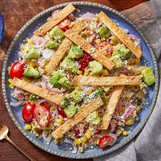 Recipe: Corn, Avocado & Barley Bowl with Pickled Onion & Crispy Tortilla Strips - Blue Apron Pickled Jalapeno Peppers, Pickled Onions, Stuffed Jalapeno Peppers, New Cooking, Fresh Fruits And Vegetables, Mediterranean Recipes, Original Recipe, Food Design