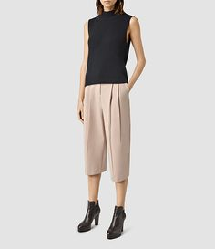 Womens Roka Culottes Pant (Dusty Pink) - product_image_alt_text_1