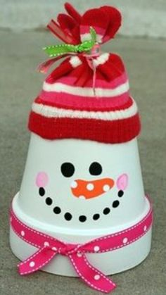 Cute snowman craft