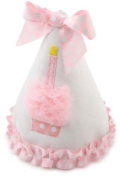 Amazon.com: Mud Pie Baby Birthday Pink and White Hat, Cupcake: Toys & Games