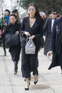 Justine Lee - Fall 2016 Paris Fashion Week Street Style Day 8 - March 8, 2016 #pfw #Chanel