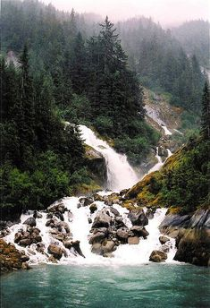 Some breathtaking Alaska Scenery! I loved my trip to Alaska! Beautiful Waterfalls, Beautiful Landscapes, Natural Waterfalls, Places To Travel, Places To See, Yellowstone Nationalpark, Les Cascades, Belle Photo, The Great Outdoors