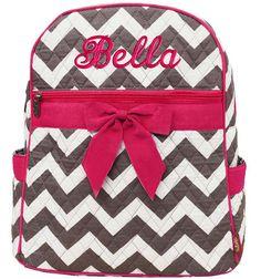 chevron backpacks for girls   Personalized Backpack Black Chevron ...
