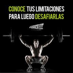 #Crossfit #Frases #Forcefit #Motivacion Conoce tus limitaciones para luego desafiarlas.
