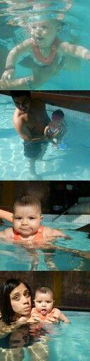 02 de Enero de 2016 la primera vez que mi niña se mete al agua a nadar :D y hay vídeo <3  https://m.facebook.com/story.php?story_fbid=10205536818040326&id=1248296883