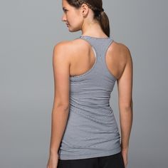 NWT Lululemon Racerback Tank Luon fabric with four-way stretch, classic black and white pattern. No shelf bra, medium support, form fitting.  🚫 Trades/🅿️🅿️ ✨ 100% Authentic 💵 Price Firm 🙅🏻 No Bundle Discount 📬 Ships in 1-2 Days lululemon athletica Tops Tank Tops