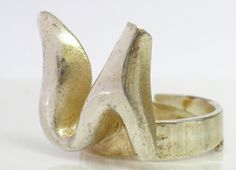 Sterling Modernist Ring FINNISH Sirokoru Co Signed by june2six, $160.00