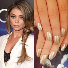 """We love seeing one of our favorite celebrities @therealsarahhyland in RCM's """"Mink Coat!"""" Via celeb manicurist the wonderful @tracy_clemens  #RCMNailIt"""