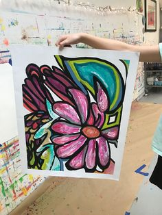 flower art Contour Flower Still Life - Small Hand Big Art - Charlotte N. Kids Art Class, Art For Kids, Middle School Art Projects, Art School, 8th Grade Art, Art Lessons Elementary, Elements Of Art, Art Classroom, Art Club