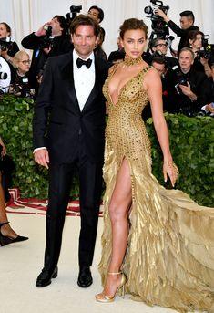 Bradley Cooper in Tom Ford and Irina Shayk in Versace