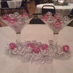 A table I decorated for a work Christmas party! A fun spin!