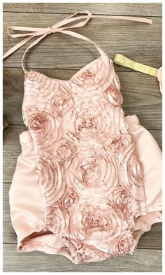 db8139992394 Blush rossette boho chic baby girl romper. 1st birthday outfit or the  perfect boho outfit