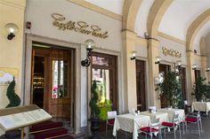 La fachada del Caffè San Carlo en Turín