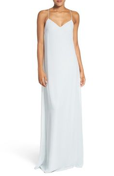 nouvelle AMSALE 'Willa' V-Neck Trapeze Gown available at #Nordstrom