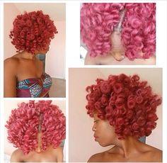 Natural hair style