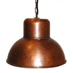 lámpara techo cobre